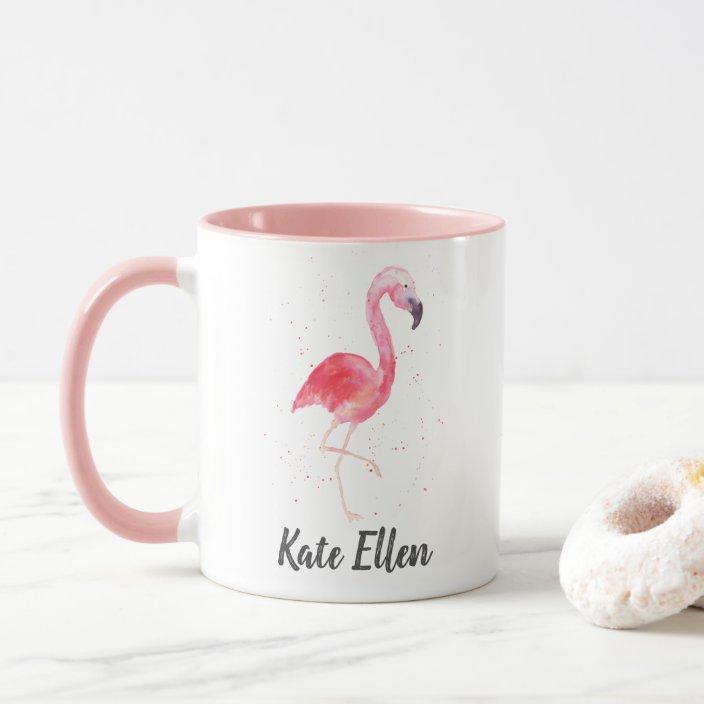 Personalized Name Flamingo Mug
