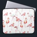"Watercolor flamingo pattern tropical laptop sleeve<br><div class=""desc"">Watercolor flamingo pattern tropical laptop bag</div>"