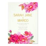 Watercolor Floral 5x7 Paper Invitation Card