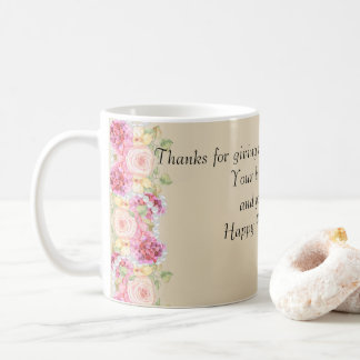 Watercolor Floral and Pearls Mother's Day Coffee Mug