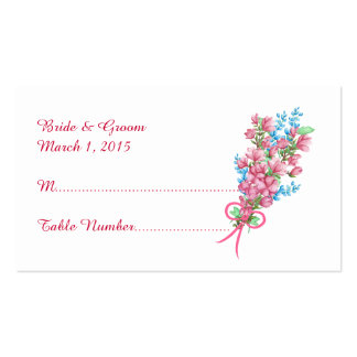 Watercolor Floral Arbor Wedding Place Card Business Card