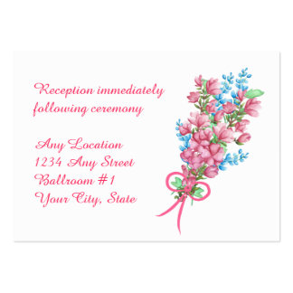 Watercolor Floral Arbor Wedding Reception Large Business Card