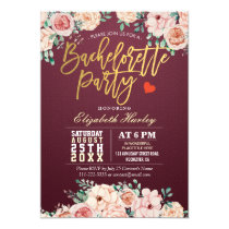 Watercolor Floral Bachelorette Party Invitation