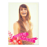 Watercolor Floral Banner Class of 2015 Graduation 5x7 Paper Invitation Card