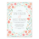 Watercolor Floral Botanical Garden Wedding Invites