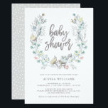 """Watercolor Floral Botanical Wreath 