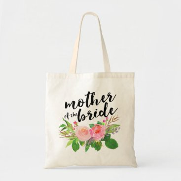 Precious_Presents Watercolor Floral Bouquet|Mother of the Bride Tote Bag