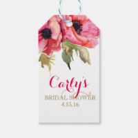 Watercolor Floral Bridal Shower gift tags