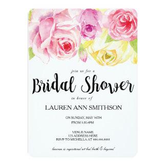 Watercolor Floral Bridal Shower Invite