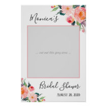 Watercolor Floral Bridal Shower Photo Prop Poster