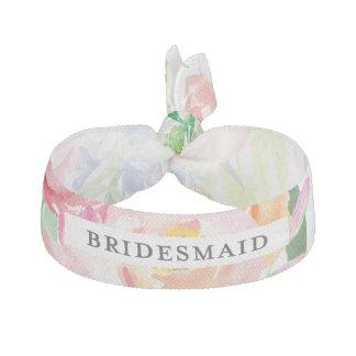 Watercolor Floral Bridesmaid Elastic Hair Tie