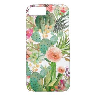 Watercolor Floral Cactus Pattern iPhone 7 Case