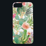"Watercolor Floral Cactus Pattern iPhone 8/7 Case<br><div class=""desc"">for her</div>"