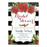 Watercolor Floral Christmas Bridal Shower Card