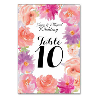 Watercolor floral Design Card