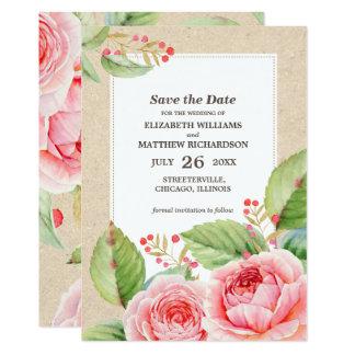 Watercolor Floral design Custom Wedding Invitation