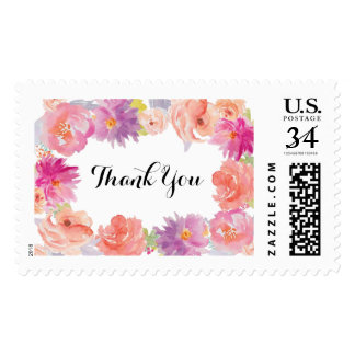 Watercolor floral Design Postage