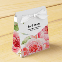 Watercolor Floral design Wedding Favor Boxes