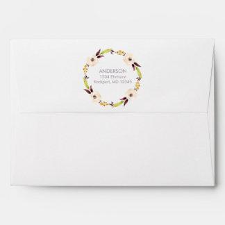 Watercolor Floral Envelope