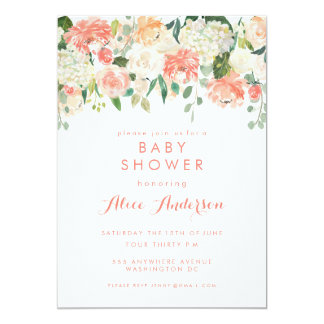 Watercolor Floral Garden Baby Shower Invite