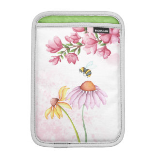 Watercolor Floral Garden Scene iPad Mini  Vertical iPad Mini Sleeves