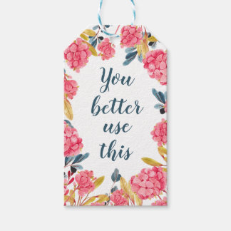 Watercolor Floral Gift Tag for Handmade Items