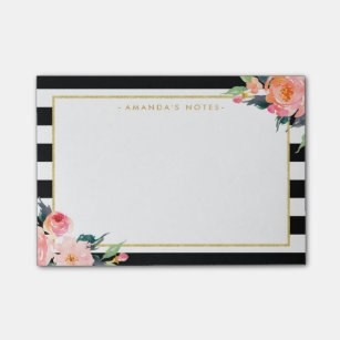 Black White Stripes Post It Notes Zazzle
