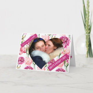 Watercolor Floral Heart Frame Mother's Day Card