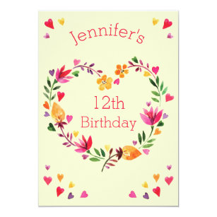60 off hearts 12th birthday invitations shop now to save zazzle