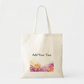 Watercolor Floral in Pink, Purple, and Orange Tote Bag
