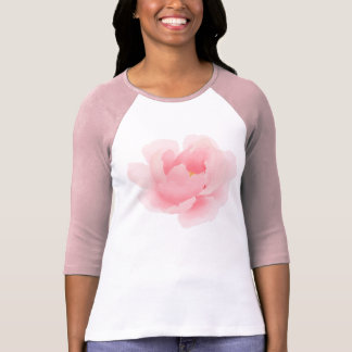 Watercolor Floral Light Pink Peony T-Shirt