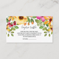 Watercolor Floral Lingerie Raffle Card