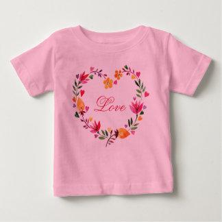 Watercolor Floral Love Heart Wreath Shirt