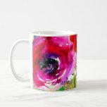 Watercolor Floral Modern Bold Bright Colorful Coffee Mug