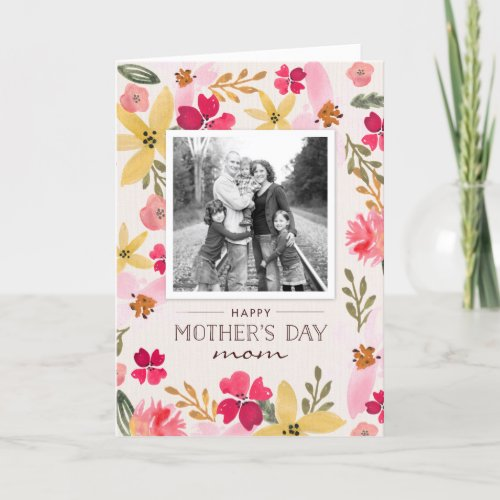 Watercolor Floral Mothers Day Card