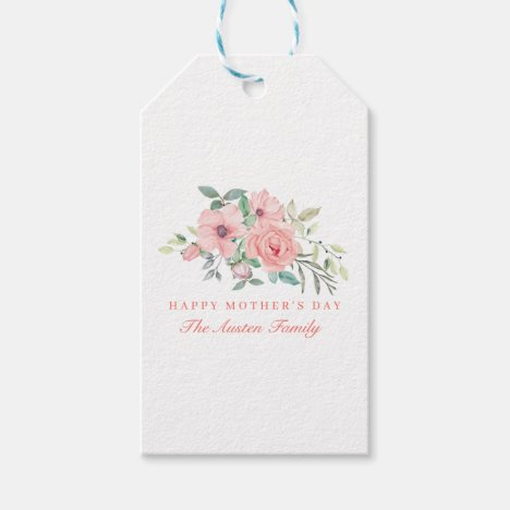 Watercolor Floral Mother's Day Gift Tags