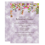 Watercolor Floral on Lavender Wedding Rehearsal Card