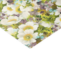 Watercolor floral pattern tissue paper