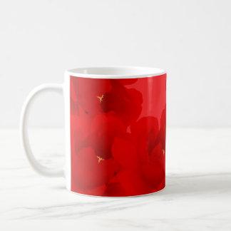 Watercolor Floral Peony Red Mug