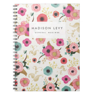 Watercolor Floral Personalized Journal Notebook