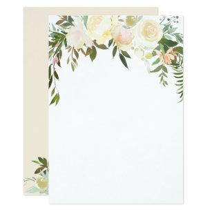 Blank Floral Invitations Zazzle