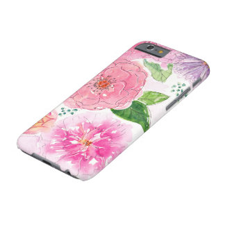 Watercolor floral pink flowers iPhone case Barely There iPhone 6 Case