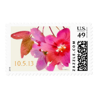 Watercolor Floral Postage Stamp