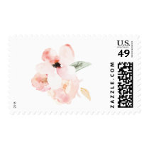 Watercolor Floral Postage Stamps