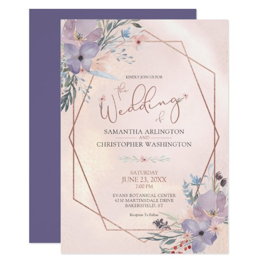 fresh rose gold wedding invitation for 14 rose gold wedding invitations and rsvp