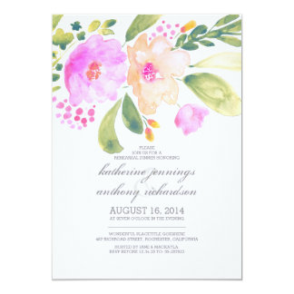 watercolor floral rehearsal dinner invites