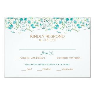 Watercolor Floral Response Card
