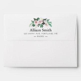 Watercolor Floral Return Address Envelope