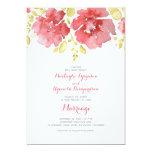 """watercolor floral romantic wedding invitations 5"""" x 7"""" invitation card"""