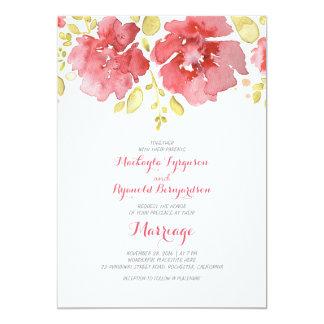watercolor floral romantic wedding invitations
